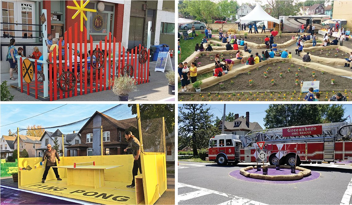 Four examples of pop-up projects