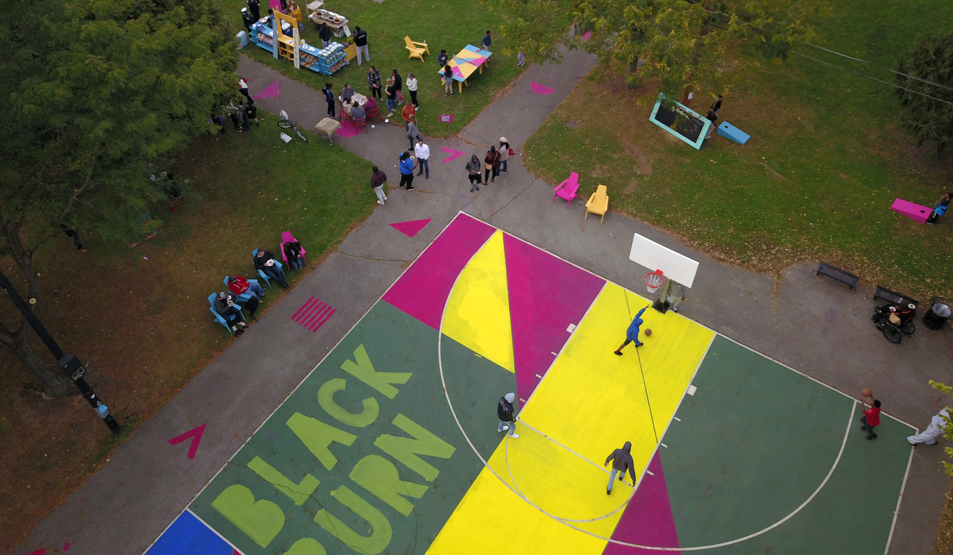 Basketball Court Murals