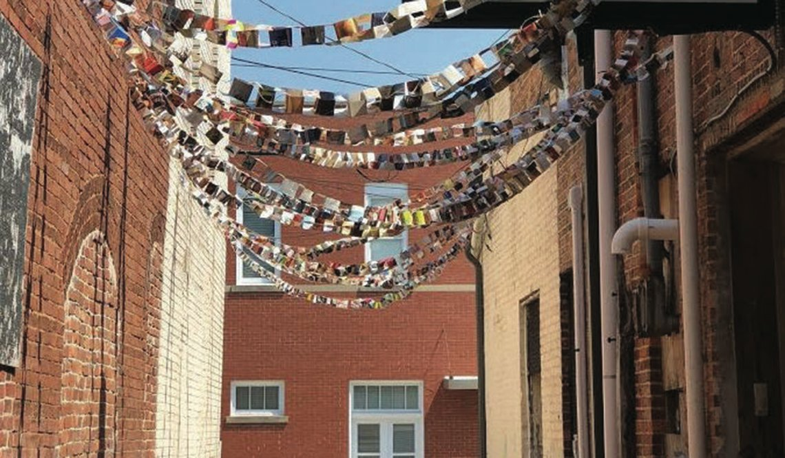 Activated Alley with Paper Chains