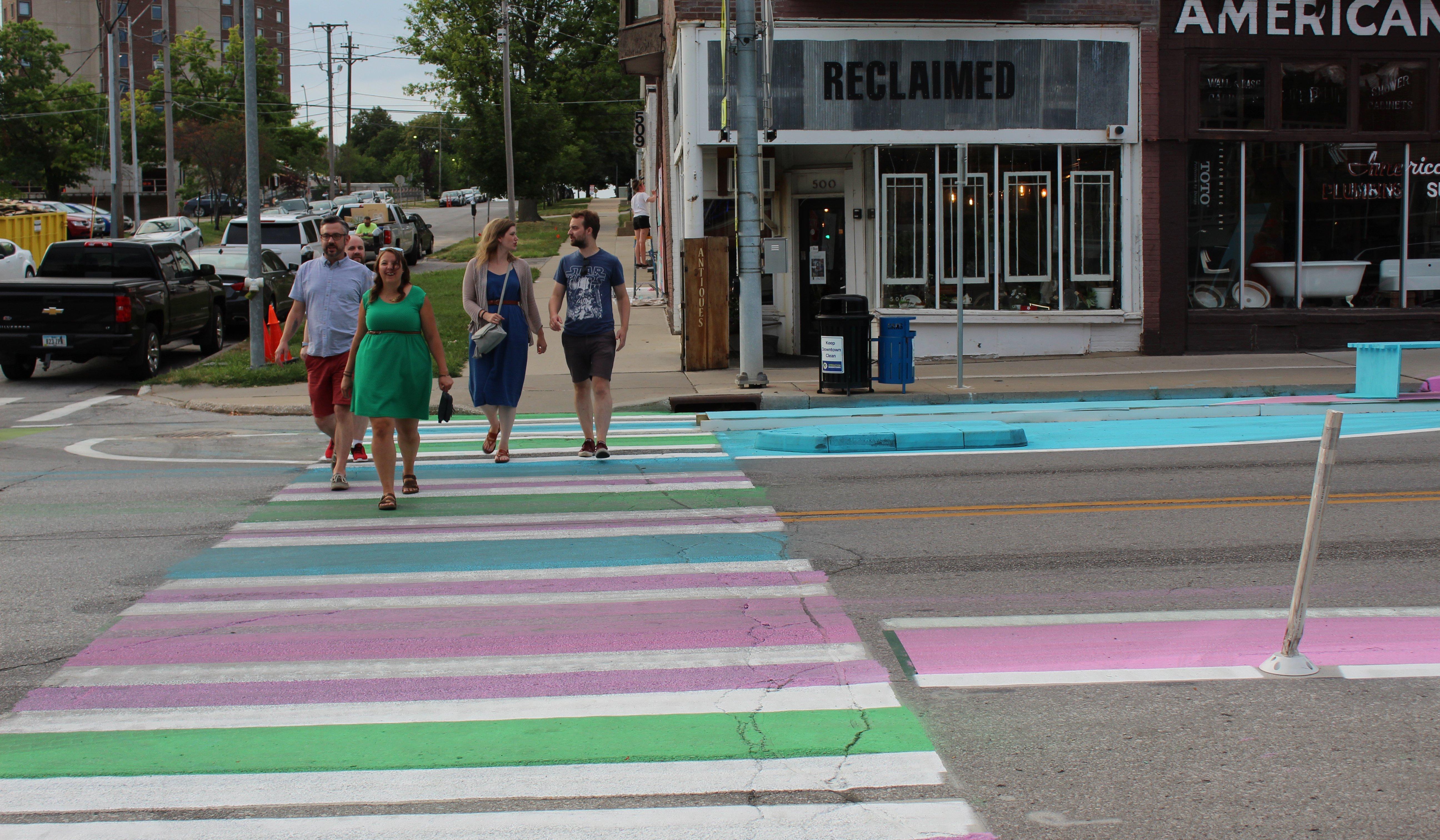 Colorful Crosswalk