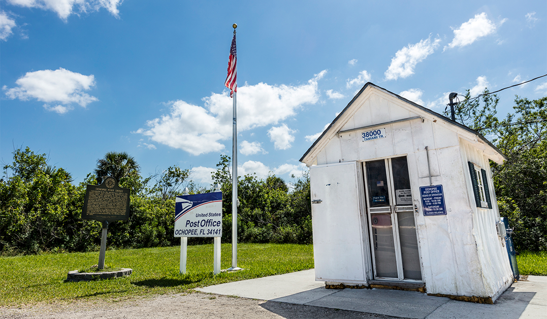 Post Office in the Florida Everglades