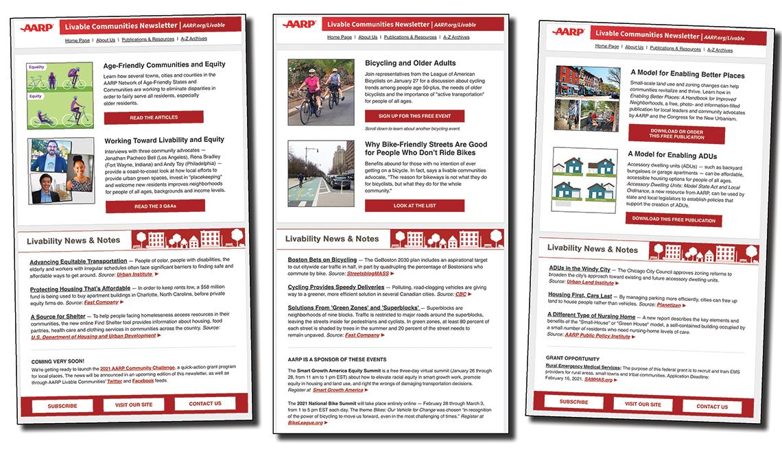AARP Livable Communities e-Newsletter