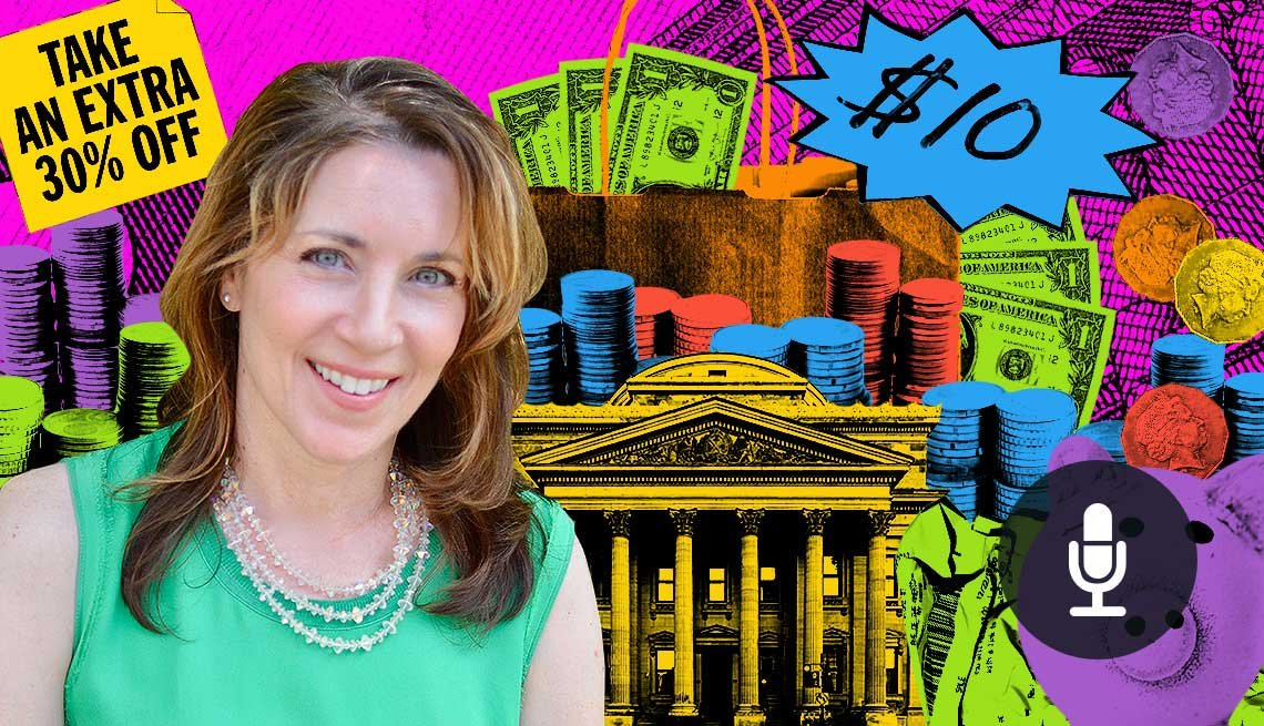 colorful graphic of Money Expert, Lisa Lee Freeman