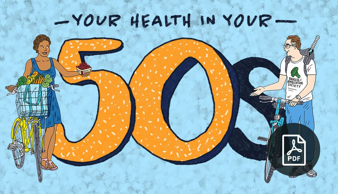 Your Health in Your 50s graphic