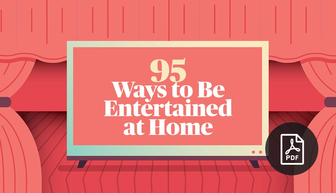 95 Ways to be Entertained at Home - graphic