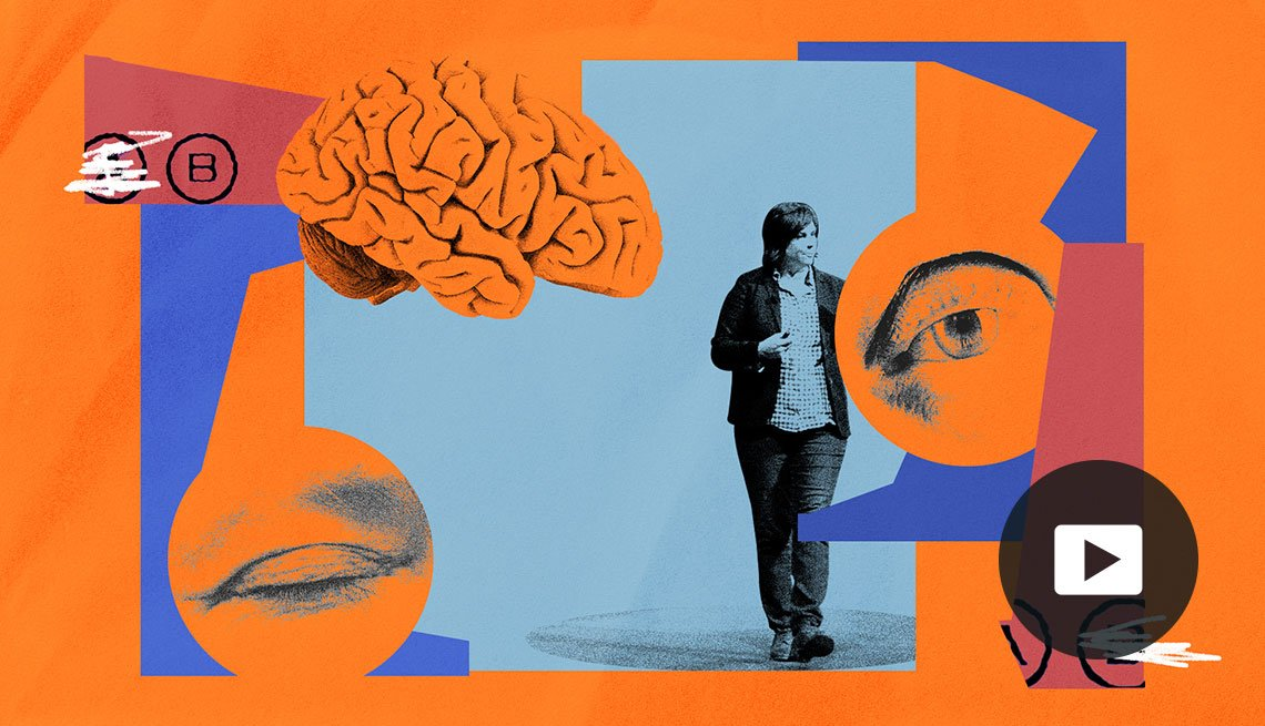 brain, eyes and a college professor