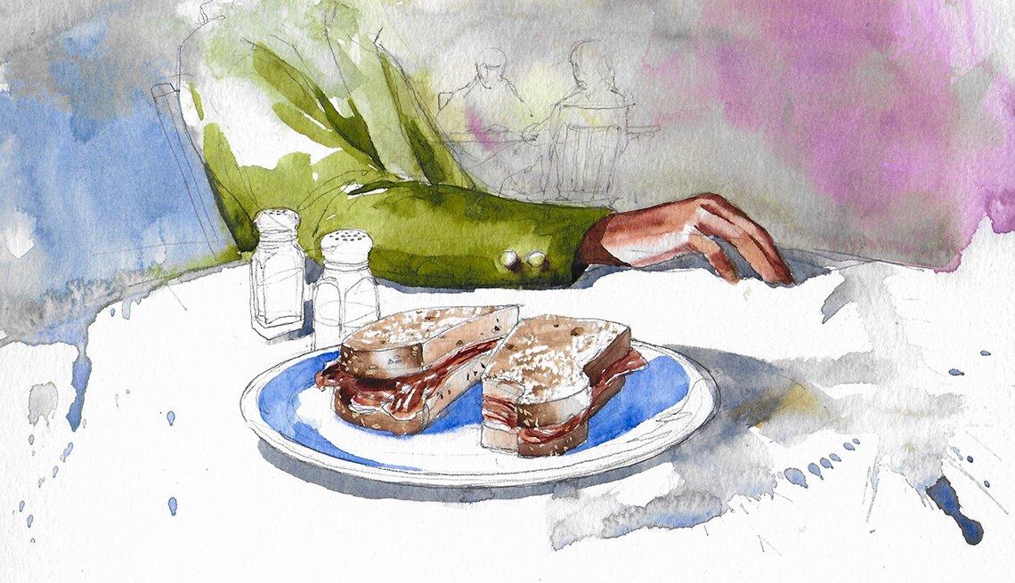 a sandwich on a table