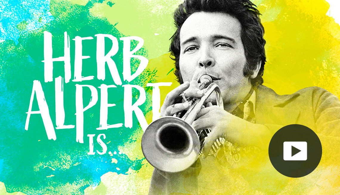 Herb Alpert playing the trumpet