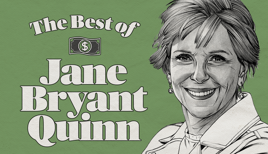 The Best of Jane Bryant Quinn promo with headshot sketch