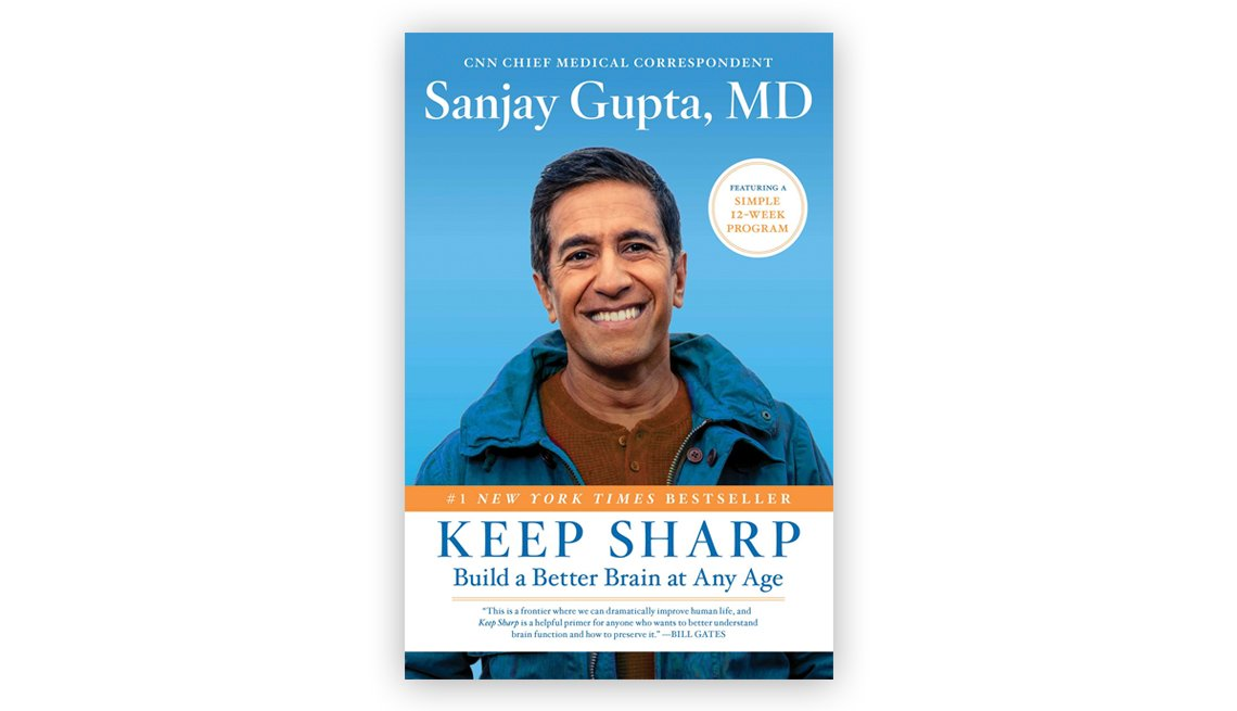 Book cover of 'Keep Sharp' by Dr. Sanjay Gupta with image of the author