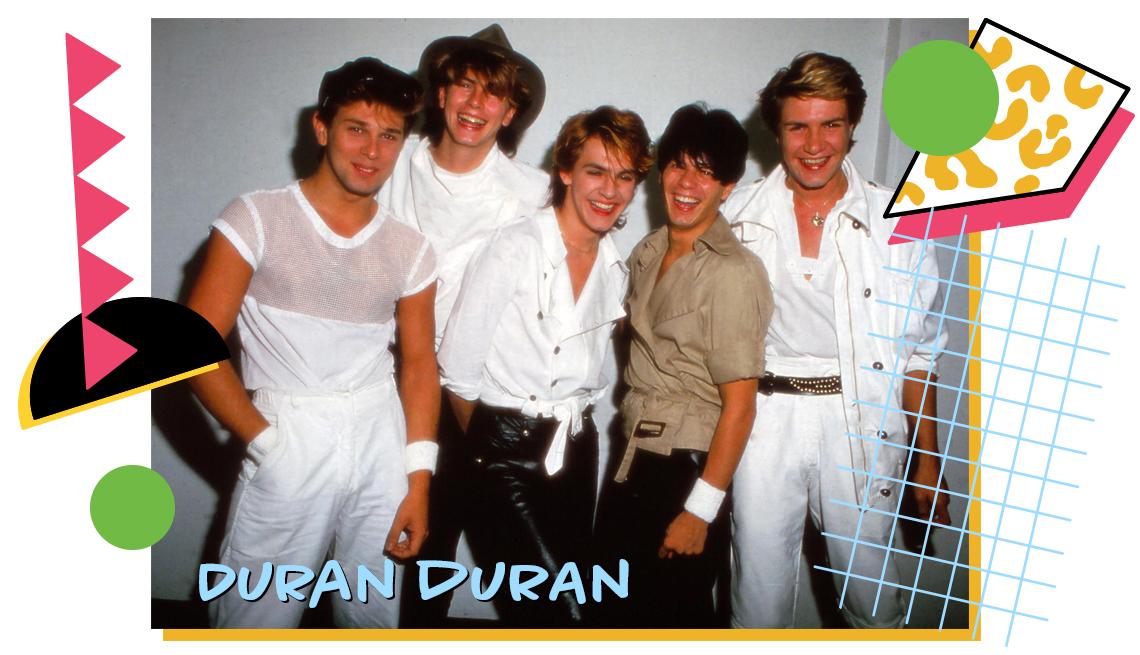 vintage photo of members of Duran Duran