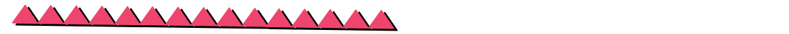decorative line of connected pink triangles