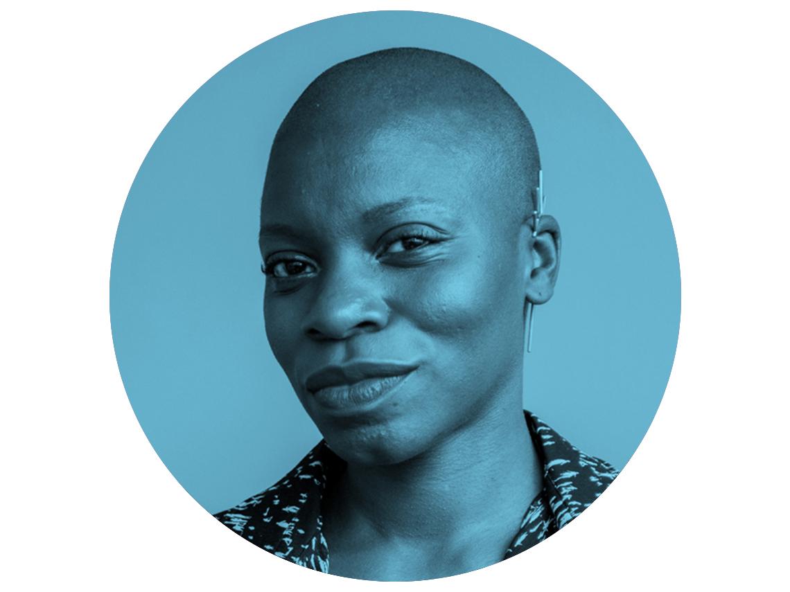headshot of Jessica Nabongo in blue circle