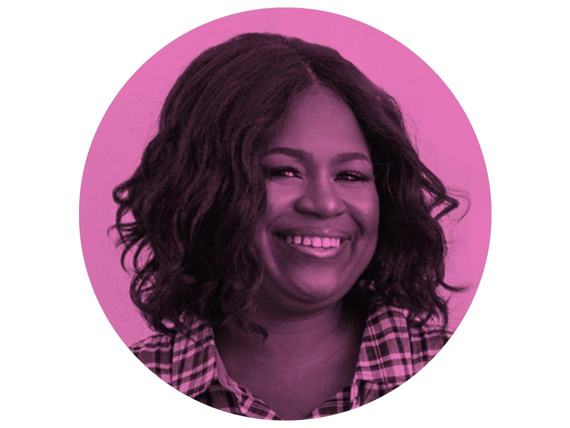 headshot of Nikki Boyd in pink circle