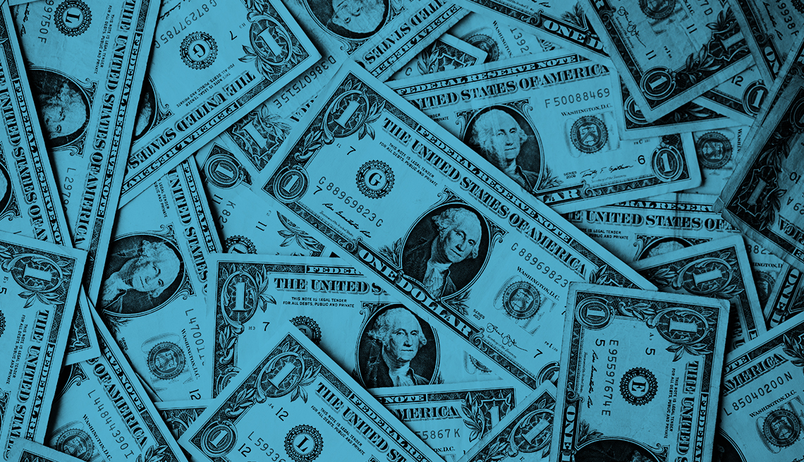a collage of dollar bills