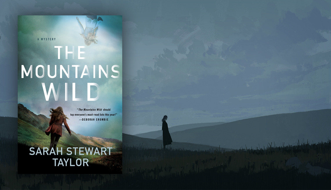 The Mountains Wild book cover and sombre illustration of lone woman on a beach