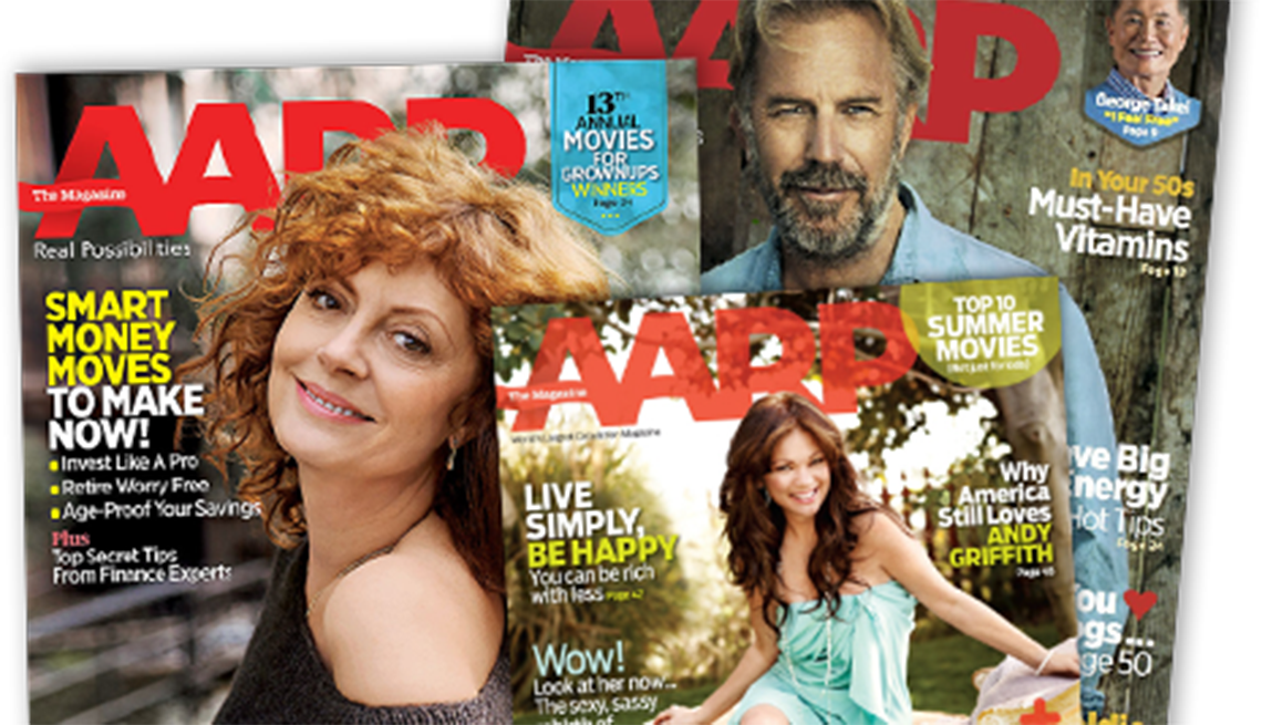 AARP The Magazine - 3 magazine covers