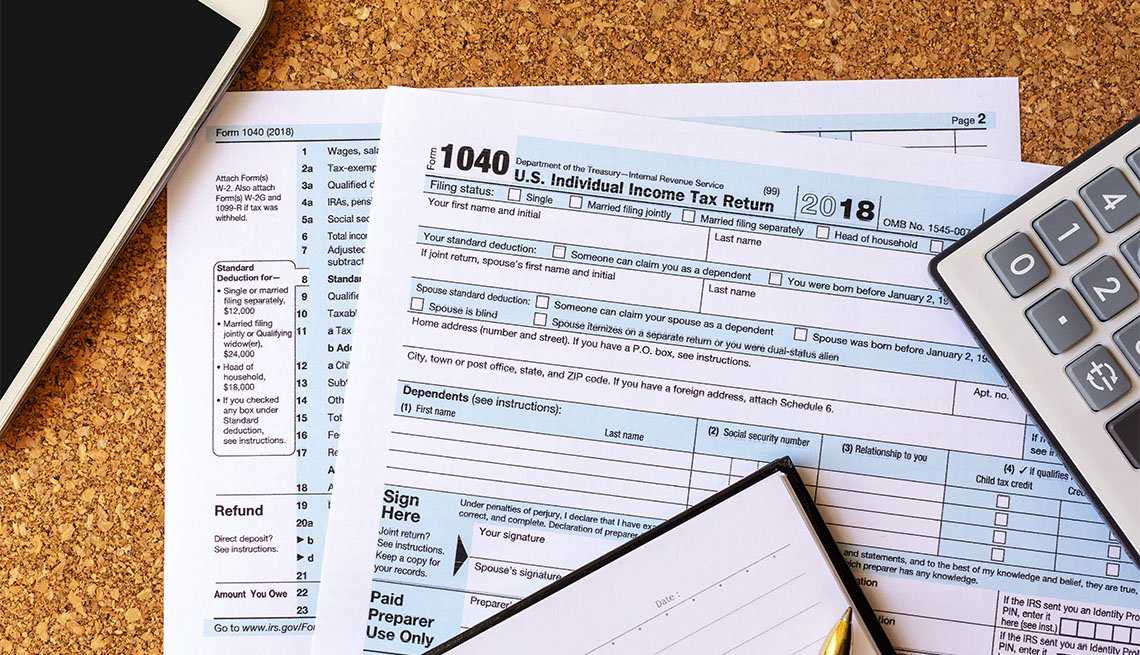 Tax Forms on Desk