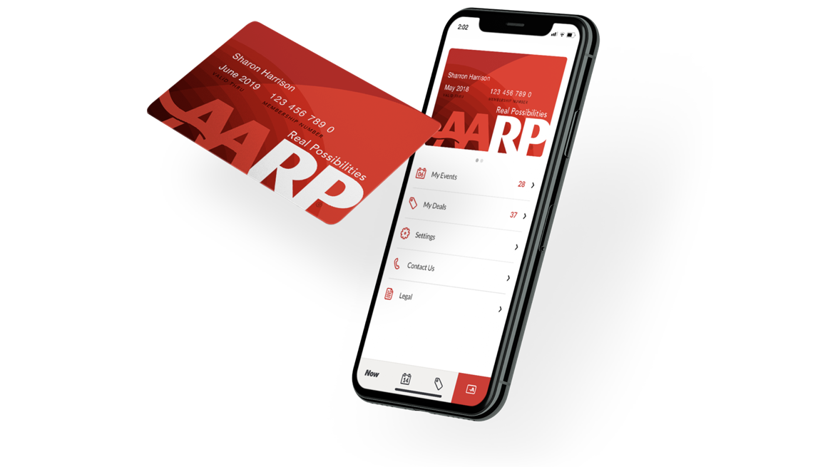 View of AARP Card and AARP App