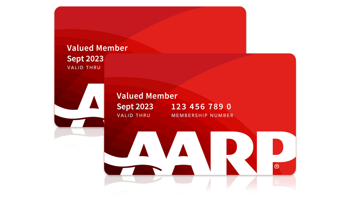 Picture of two AARP membership cards