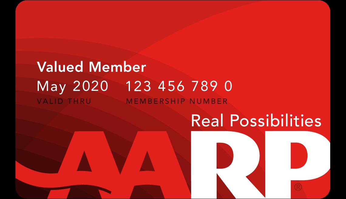 Image of an AARP membership card