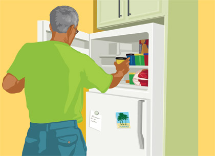 man opening the refrigerator