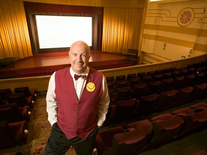 an usher in a theater