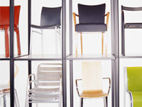 Display of chairs - November is the best month to buy furniture.