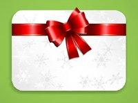Holiday gift cards generally expire within five years - image of gift card