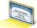 Ilustración de un hombre en frente de una tarjeta gigante del seguro social - Tres verdades sobre el seguro social