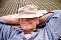 Man napping on hammock for retirement and you