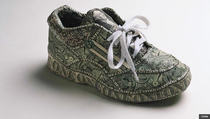 Tennis shoes with dollar bill pattern - five ways to whittle down health club fees in 2012