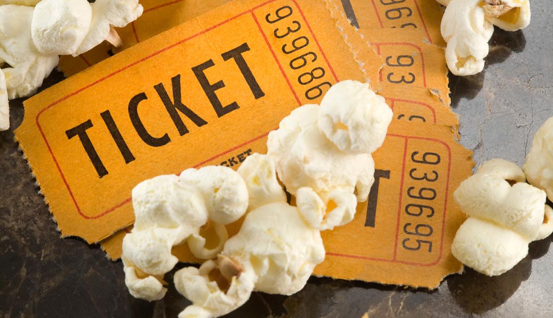 Entradas para el cine y pop corn - Formas de ahorrar