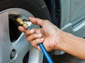 Filling car tires. 99 Ways to Save.