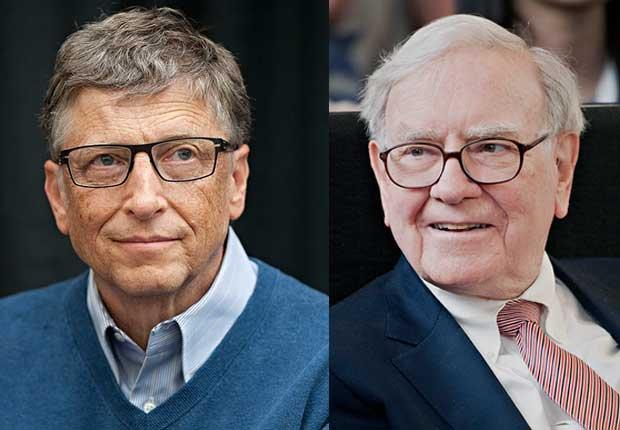 bill gates y warren buffett  - 10 hábitos de ahorros de los ricos y famosos