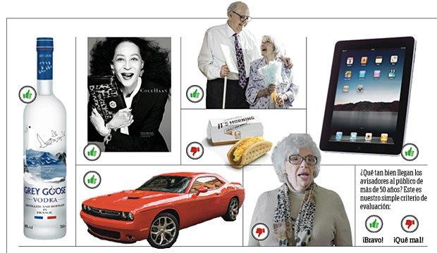 Ilustración gráfica de la publicidad a 50 + - ¿Qué tan bien llegan los anunciantes al público de más de 50 años?