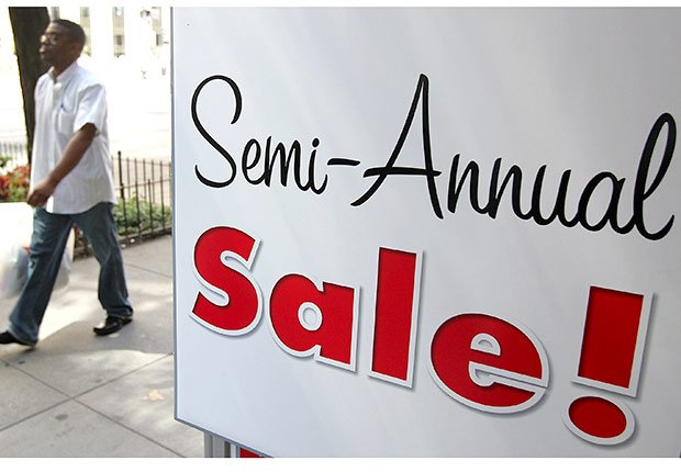 Best deals outside the holidays, semi annual sale