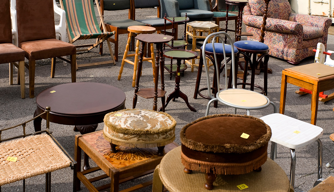 Easiest Things to Sell at a Yard Sale - Beat-Up Wooden Furniture