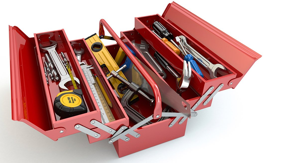 Easiest Things to Sell at a Yard Sale - Toolbox with tools