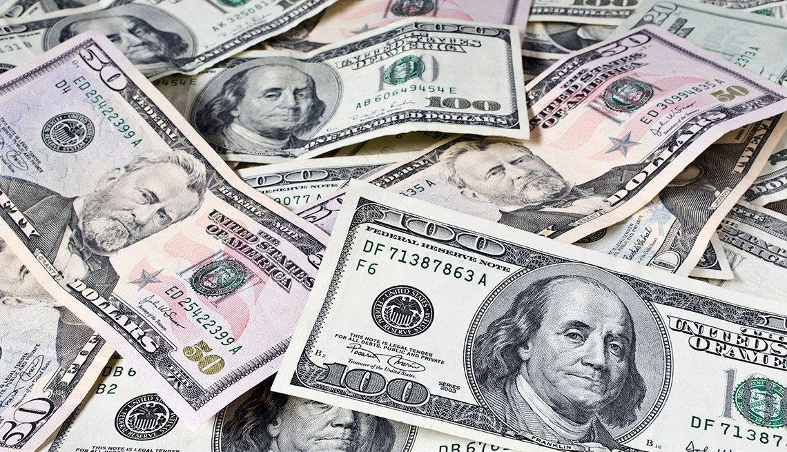 Billestes de 100 y 50 dólares - Subasta del Tesoro