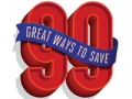 99 ways to save logo. Money management.