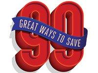 99 ways to save logo. Money management.