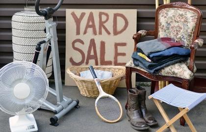 Articulos usados para la venta de garage