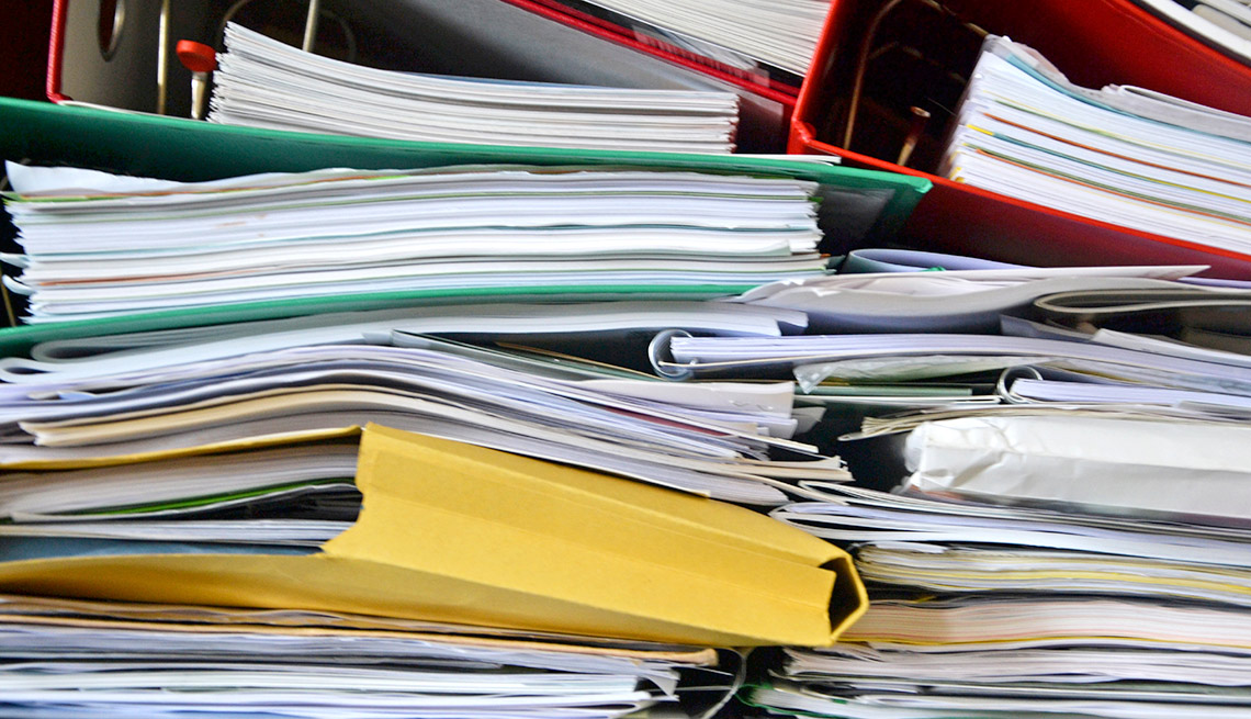 item 12 of Gallery image - Downsizing? Ditch these 10 items - Personal Papers and Records