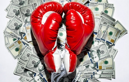 red boxing gloves and money - Love and Money Issues