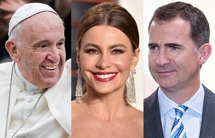 Papa Francisco, Sofía Vergara, rey Felipe IV de España - Salarios de los famosos