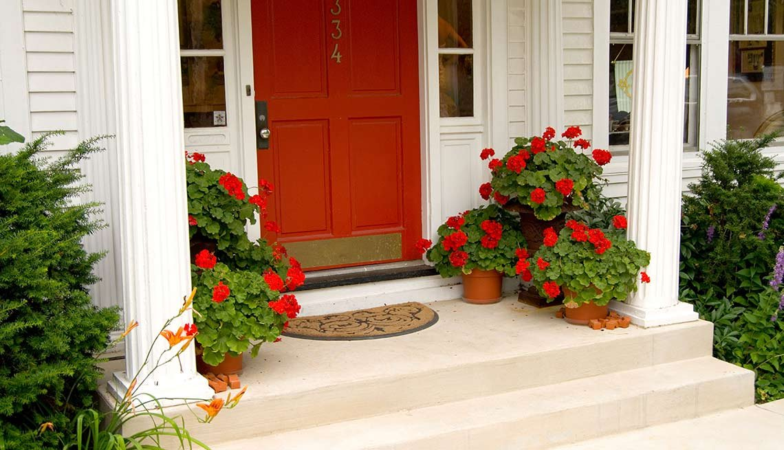 Outdoor DIY Fixes for Your Home - front door