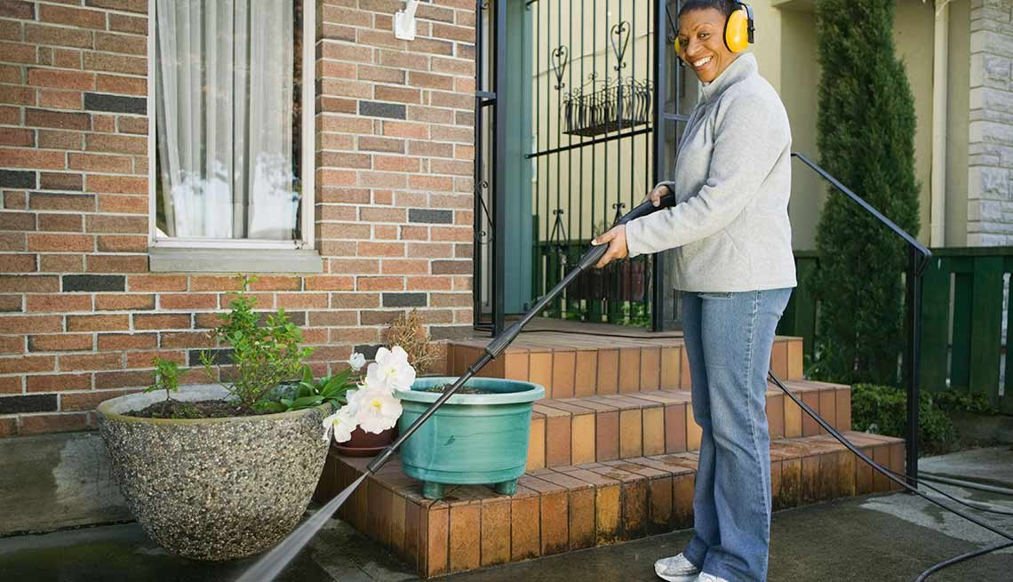 Outdoor DIY Fixes for Your Home - Power wash decks and patios