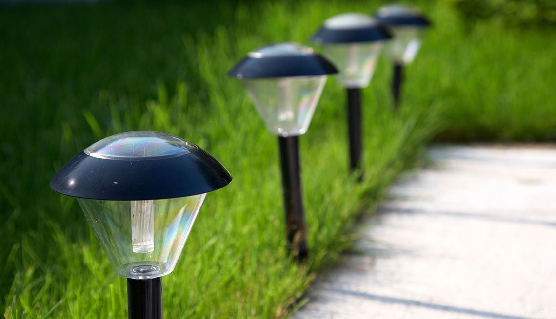 Outdoor DIY Fixes for Your Home - Install solar landscape lights