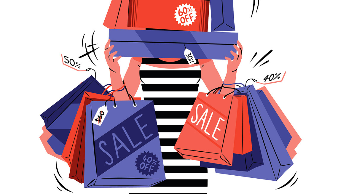Shopping sales trap